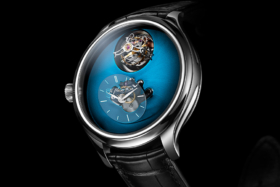 Dial ofEndeavour Cylindrical Tourbillon H. Moser × MB&F watch
