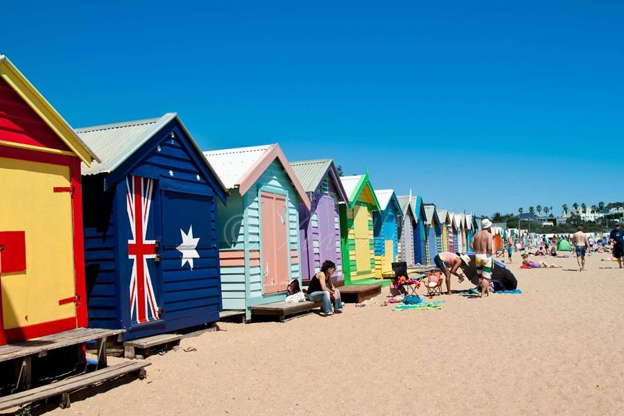 Bathing boxes brighton beach