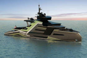 133 Meter Miami Concept Yacht side view