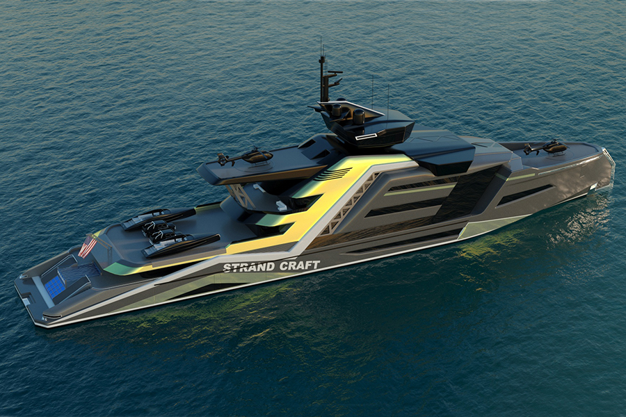 133 Meter Miami Concept Yacht top view