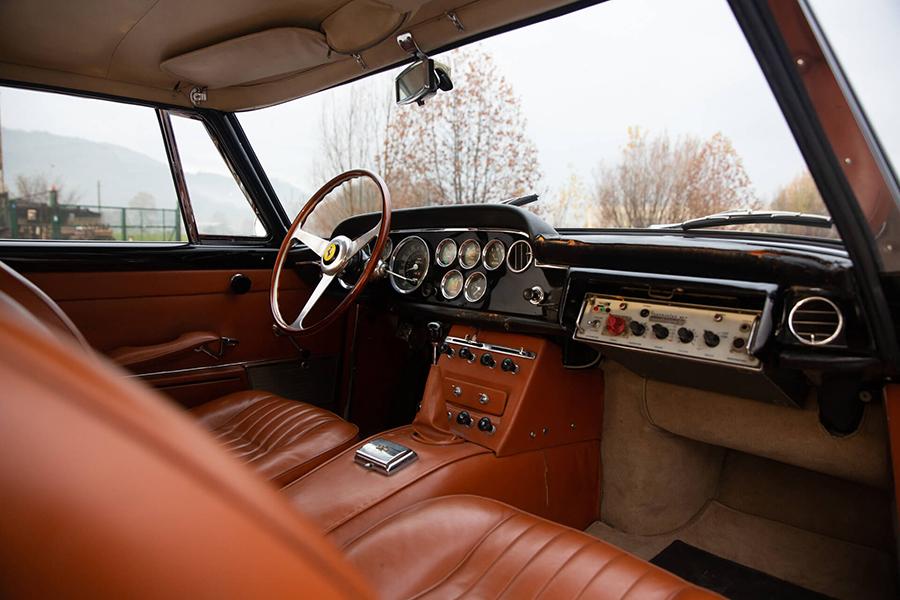 1962 Ferrari 250 GTE dashboard and steering wheel
