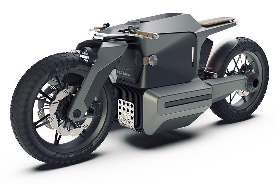 BMW Motorrad x ESMC Off Road Adventure e-motorcycle side view