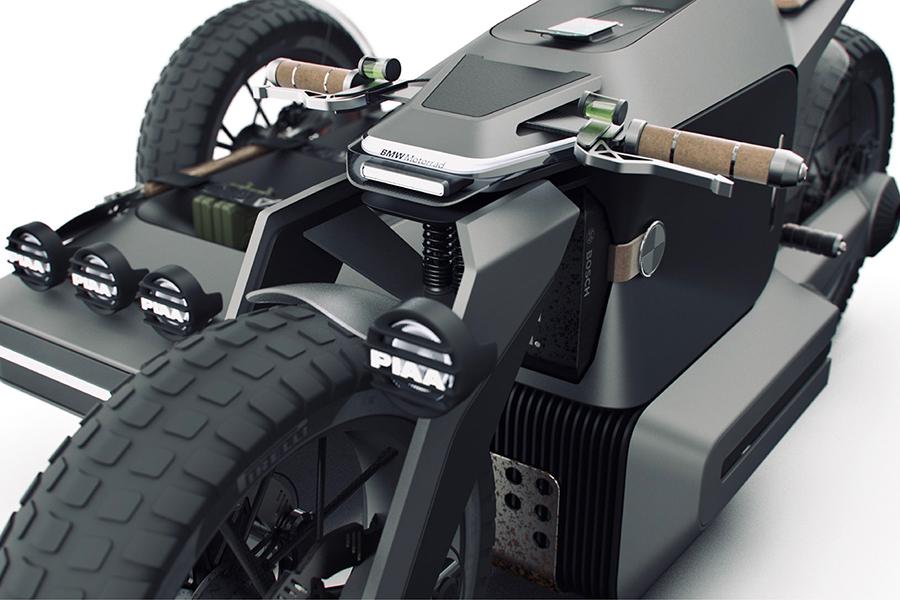 BMW Motorrad x ESMC Off Road Adventure e-motorcycle handle