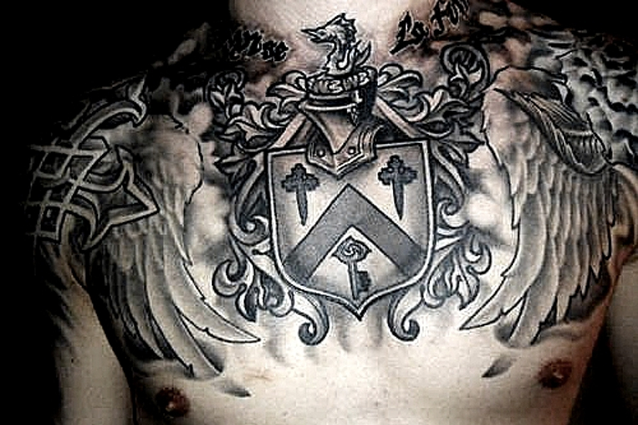 Best Tattoo Ideas for Men - family crest Tattoo