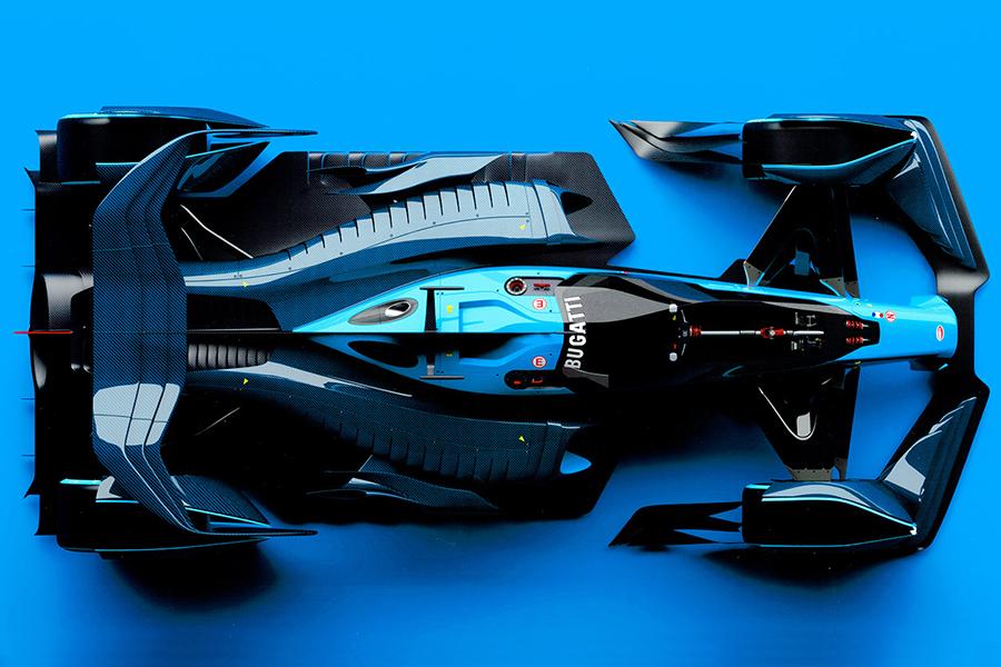 Bugatti Interns F1 top view concept car