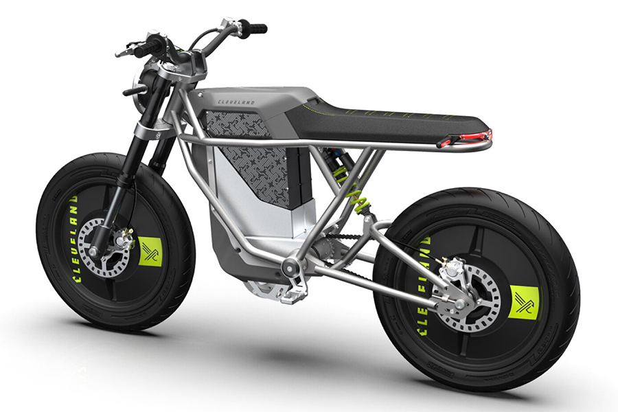 Falcon BLK Electric Motorcycle back view