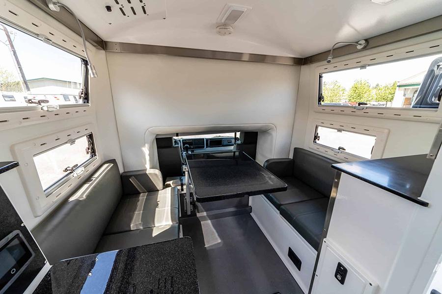 Dule Cab Adventure Earth Cruisers lounge area