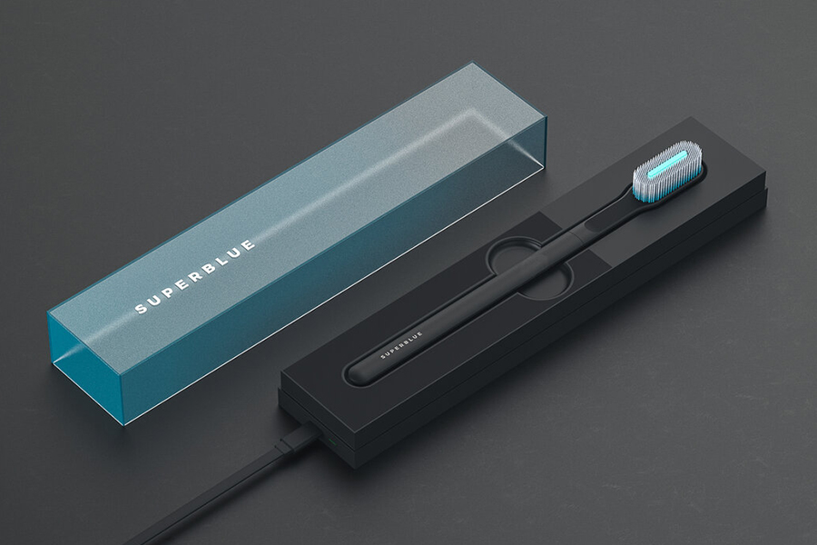 Dylan Fealtman Superblue Toothbrush charging