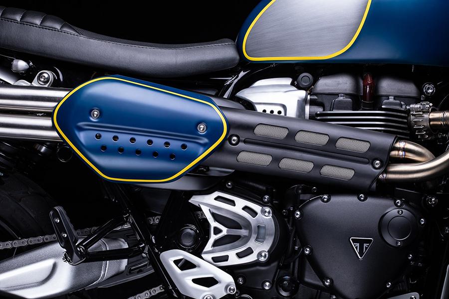 Triumph's 1200 XC engine view motorbike