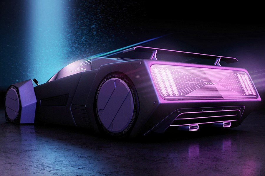 Hyper Cyber Concept track back view