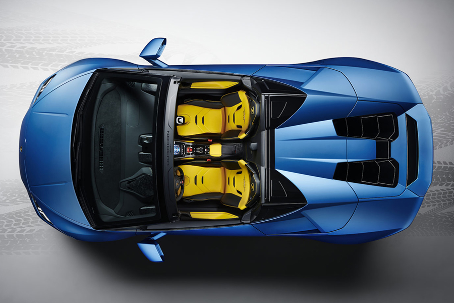 Lambo New Huracan VR top view