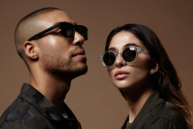 A male and a female model wearing Local Supply sunglasses
