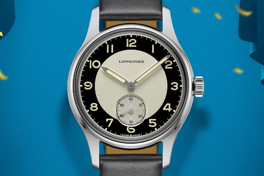 Longines Heritage Classic 'Tuxedo' watch