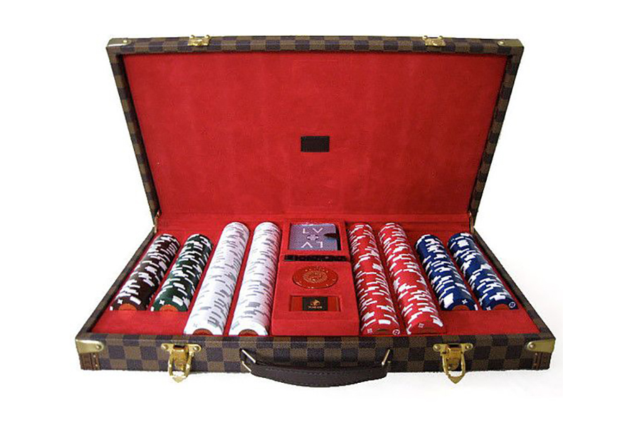 Louis Vuitton Poker Set inside view