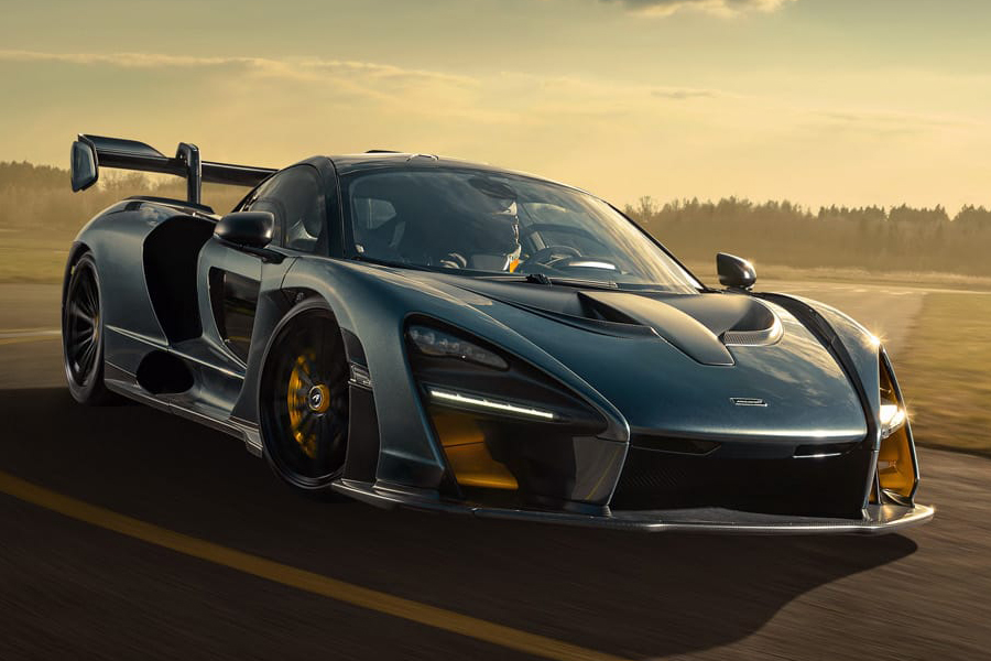 McLaren Senna on the road