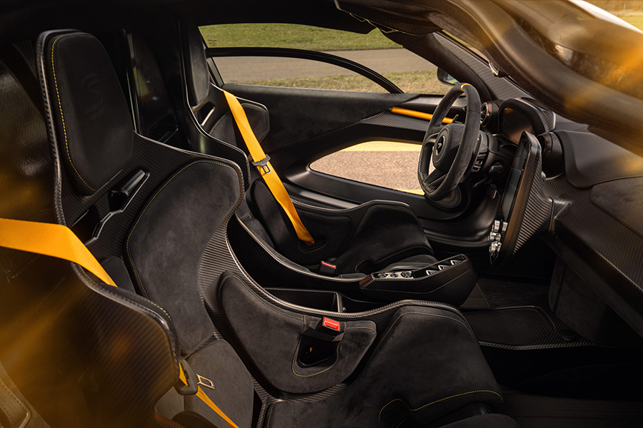 McLaren Senna dashboard and upholstery view of the vehicle