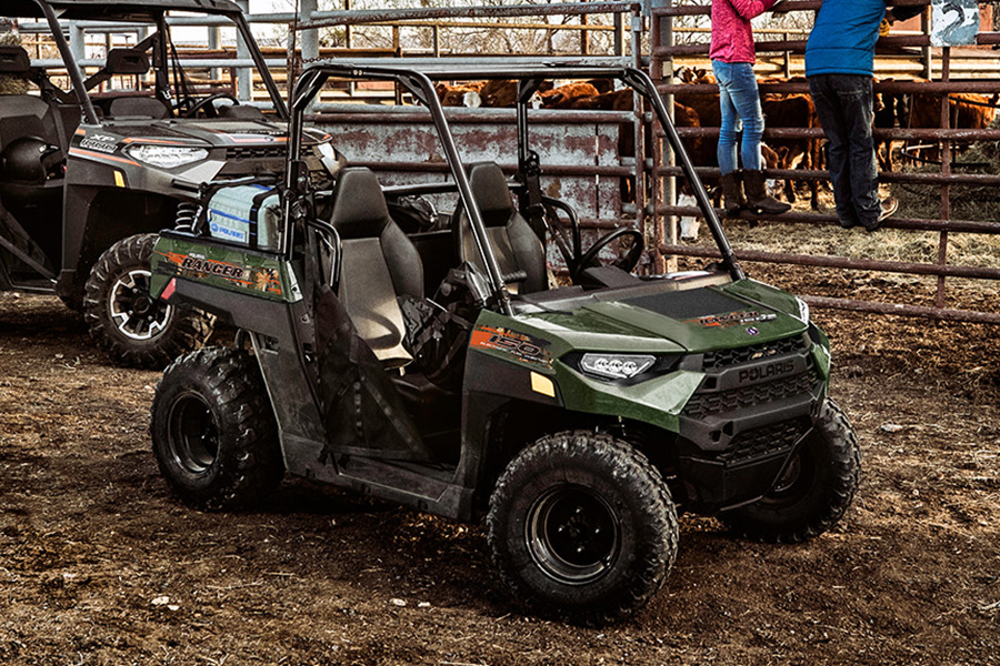 Polaris' Ranger Youth Side-By-Side ATV side view