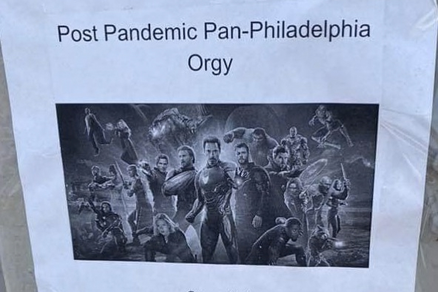 Post-pandemic orgy flyer