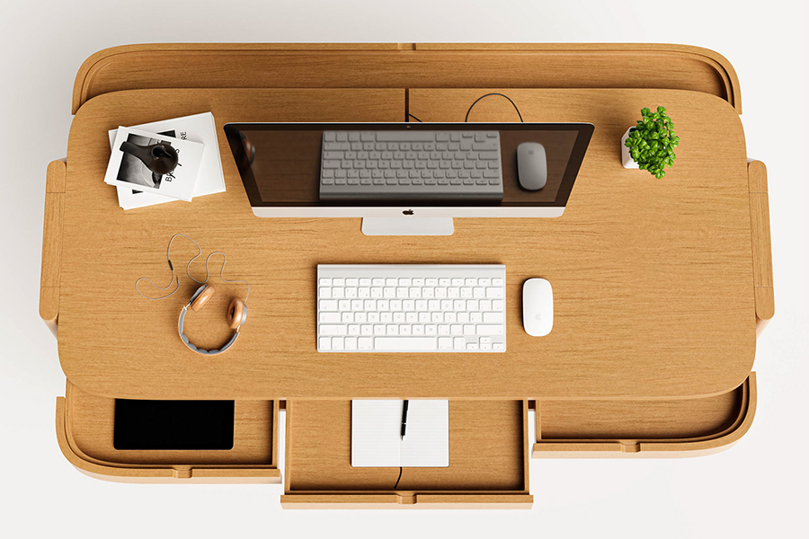 Shelter Desk for the organised top view