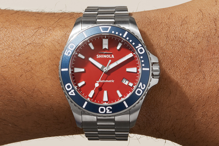 The Harbor Monster Automatic watch on wrist