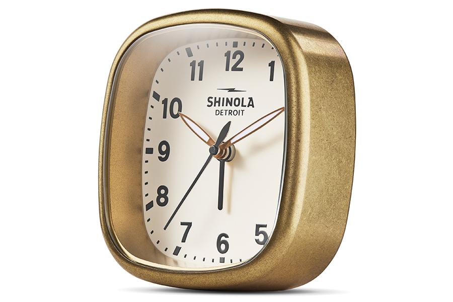 Shinola Guardian alarm clock side view