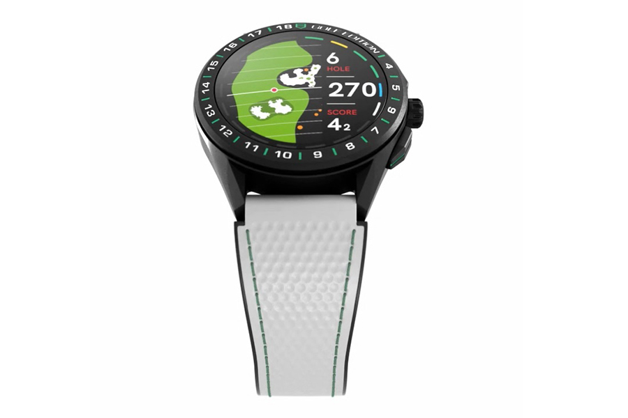 TAG Heuer Connected Golf Watch side view and strap view