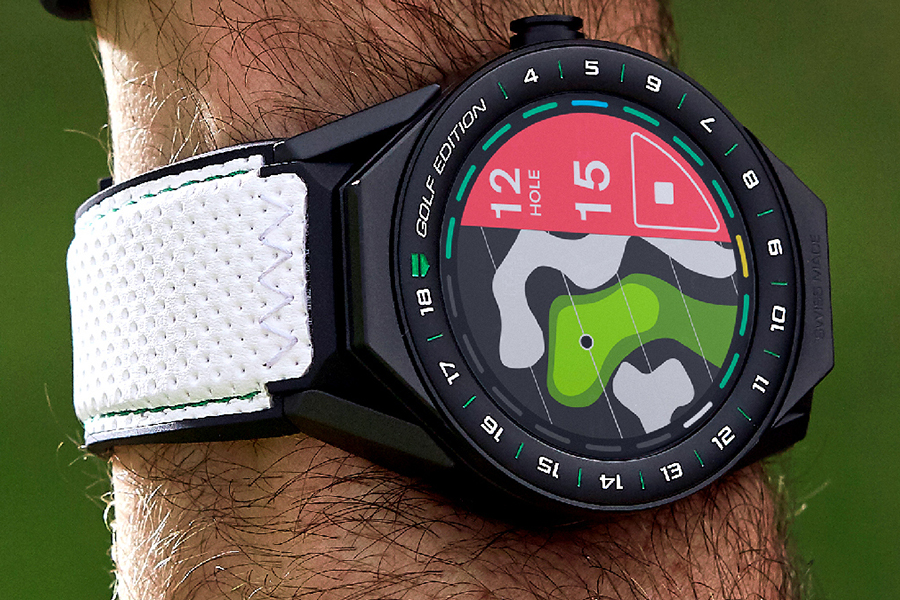 TAG Heuer Connected Golf Watch on wrist