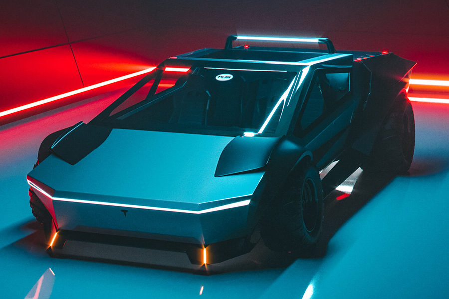 Tesla Cybertruck redesign vehicle