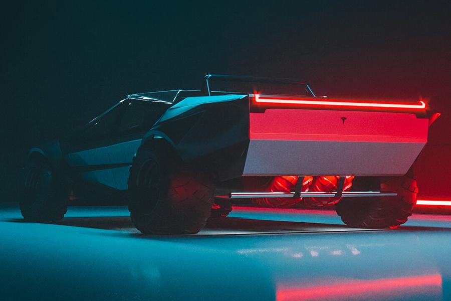 Tesla Cybertruck redesign back view