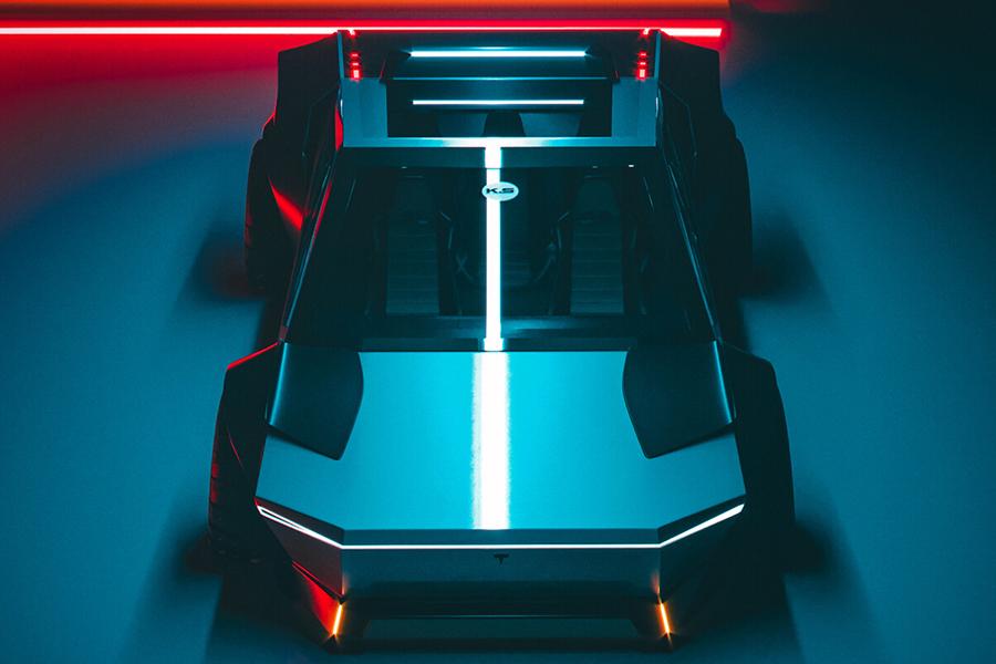 Tesla Cybertruck redesign top view