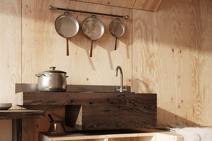The Mountain Refuge mini kitchen