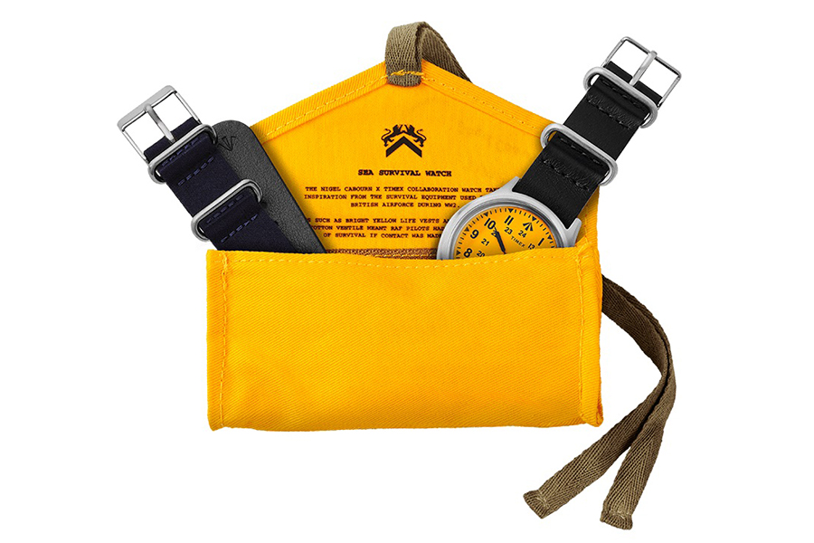 Timex x Nigel Cabourn Sea Survival Watch inside pouch
