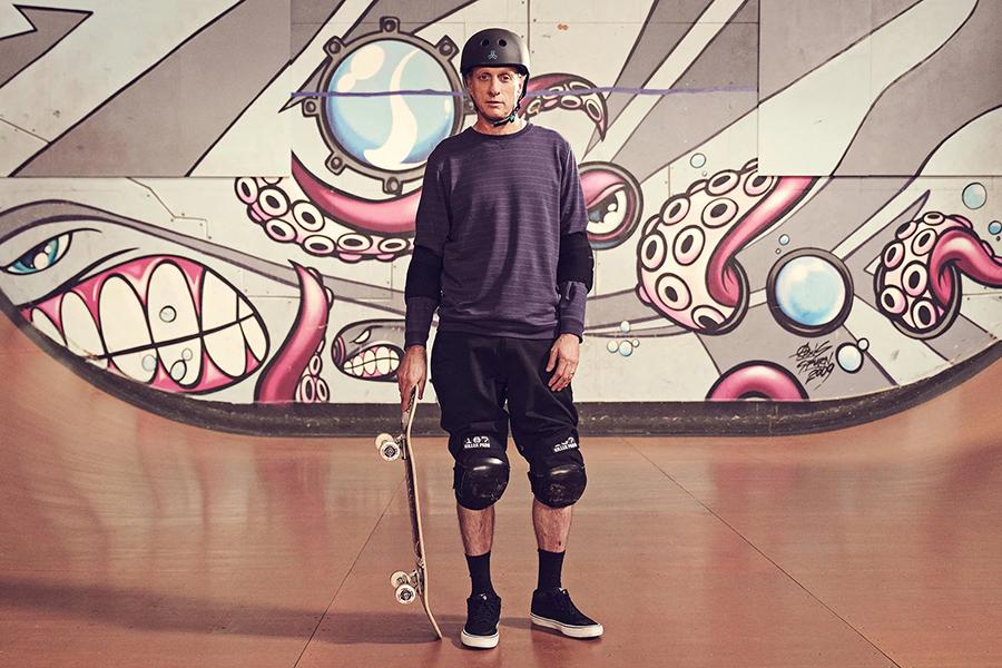Tony Hawk Skateboarding Masterclass with skateboard