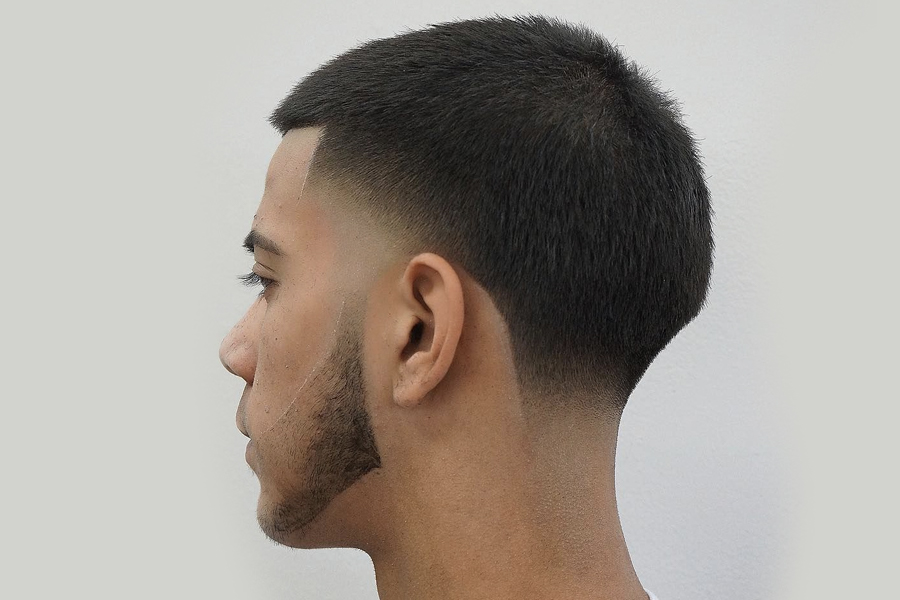 tapered buzz cut