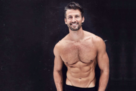 Tim Robards bare-chested