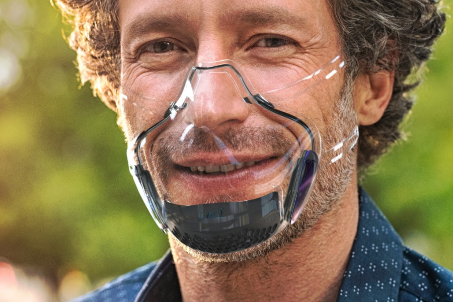 transparent face mask