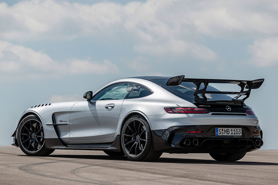 2021 Merc AMG GT Black Series back side view