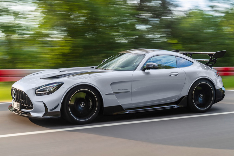 2021 Merc AMG GT Black Series on the road
