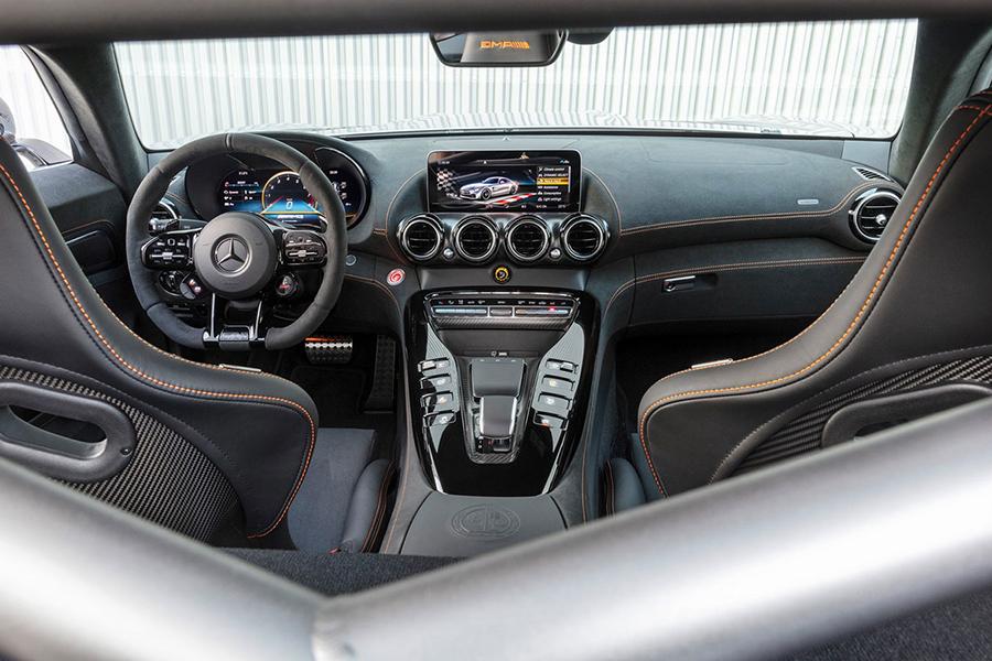2021 Merc AMG GT Black Series dashboard and steering wheel