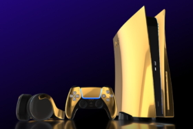 PlayStation 5 and accessories in 24K Gold