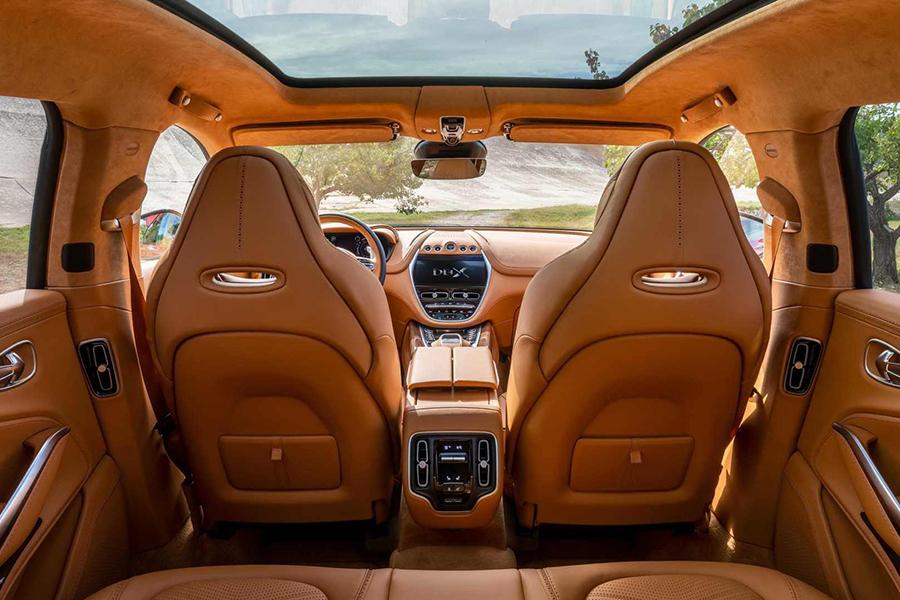 Aston Martin DBX carseat upholstery