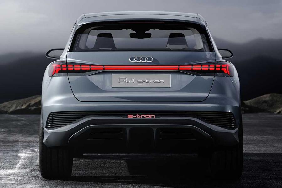 Audi Q4 Sportback E Tron back view