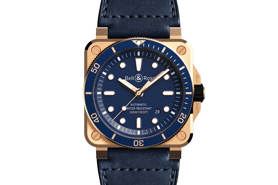 bell and ross brass divers watch