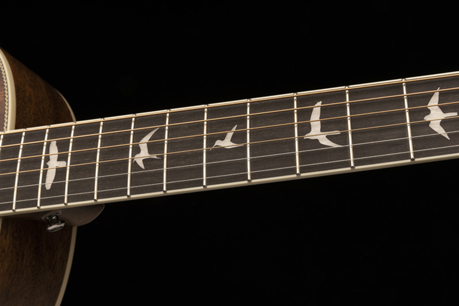 Acoustic Guitar from PRS Guitars fretboard