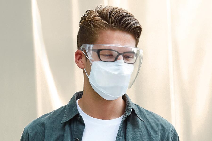 transparent face mask to stop germs