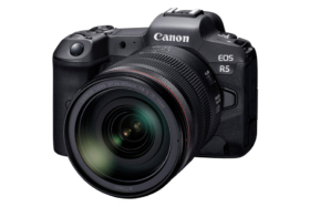 Canon Mirrorless EOS R5 lens open