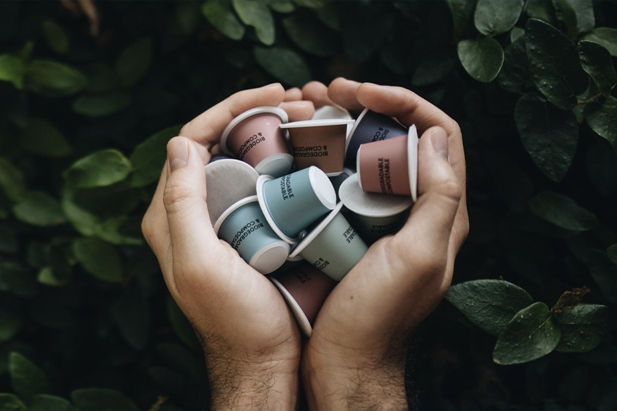 tripod sustainable coffee pods