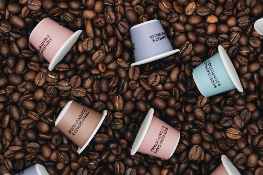 tripod compostable coffee pods