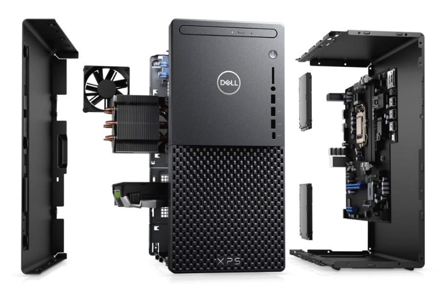 dell xps desktop in black