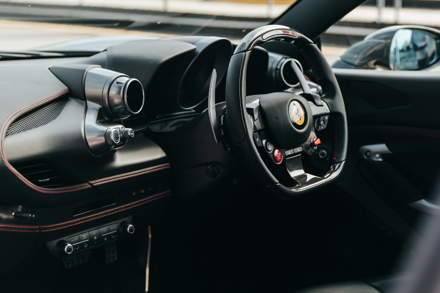 Ferrari F8 Tributo dashboard